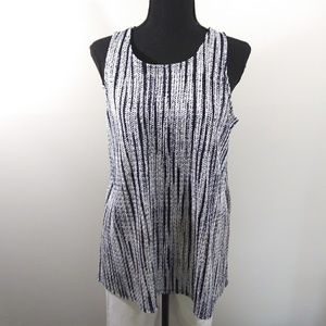 Alfani gorgeous black & white sleeveless M